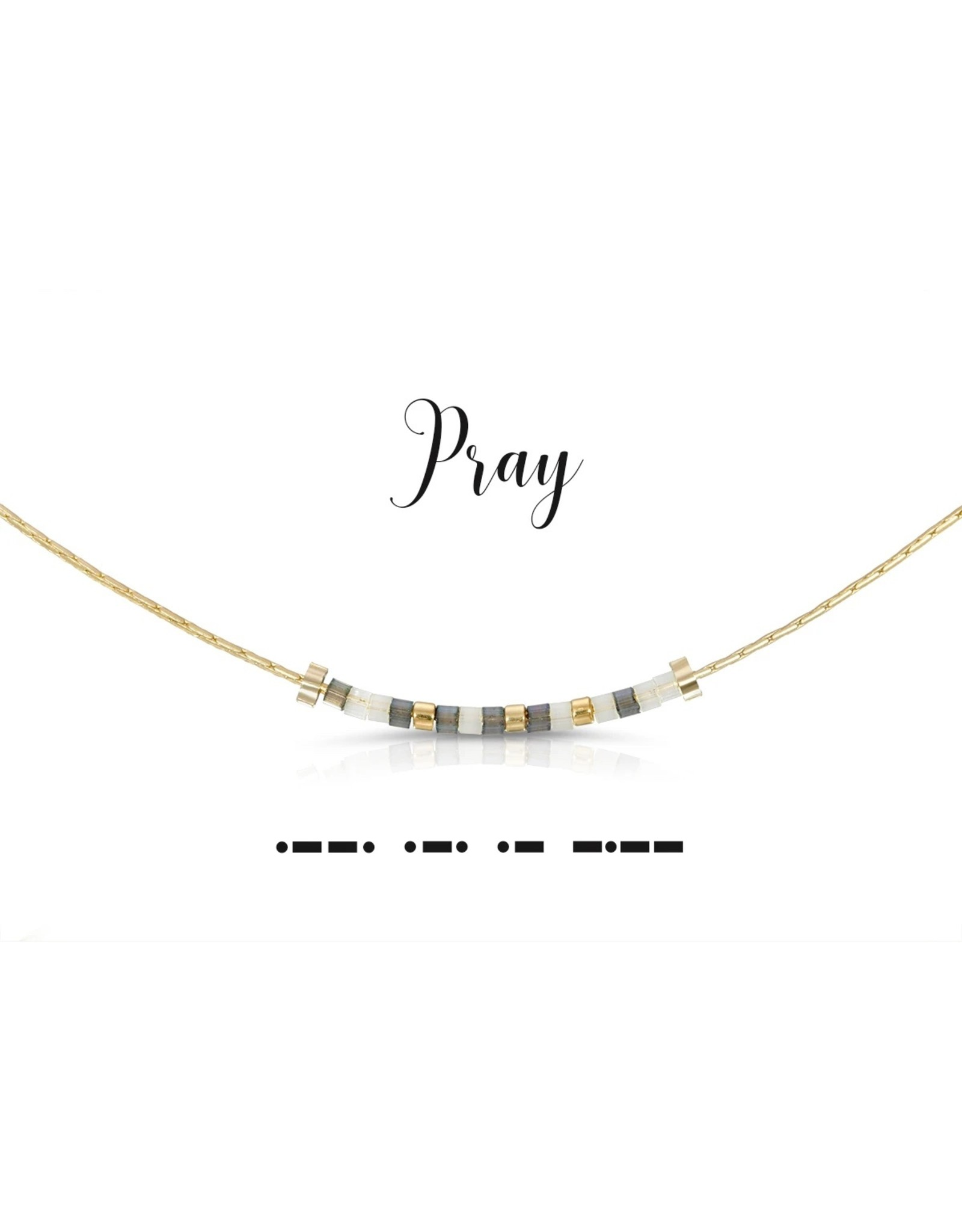 Dot And Dash Designs Pray Necklace
