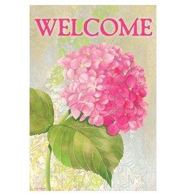 Magnolia Garden Flag Company Hydrangea-Welcome Flag Garden Flag