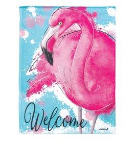 Magnolia Garden Flag Company Welcome Flamingo Garden Flag