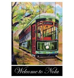 Magnolia Garden Flag Company Welcome To Nola Streetcar Garden Flag