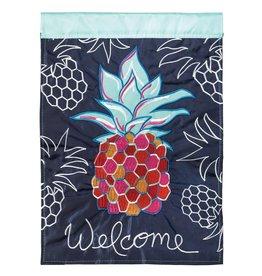 Magnolia Garden Flag Company Whimsy Pineapple Garden Flag