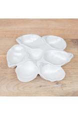 "The Royal Standard Oyster Half Dozen Platter Pearl 9.5"""