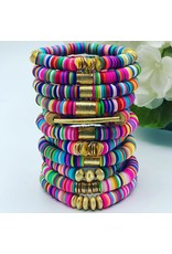 MM Custom Creations Multi-Colored Bracelets w/ Gold Accents