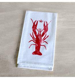 The Royal Standard Watercolor Crawfish Flour Sack Hand Towel