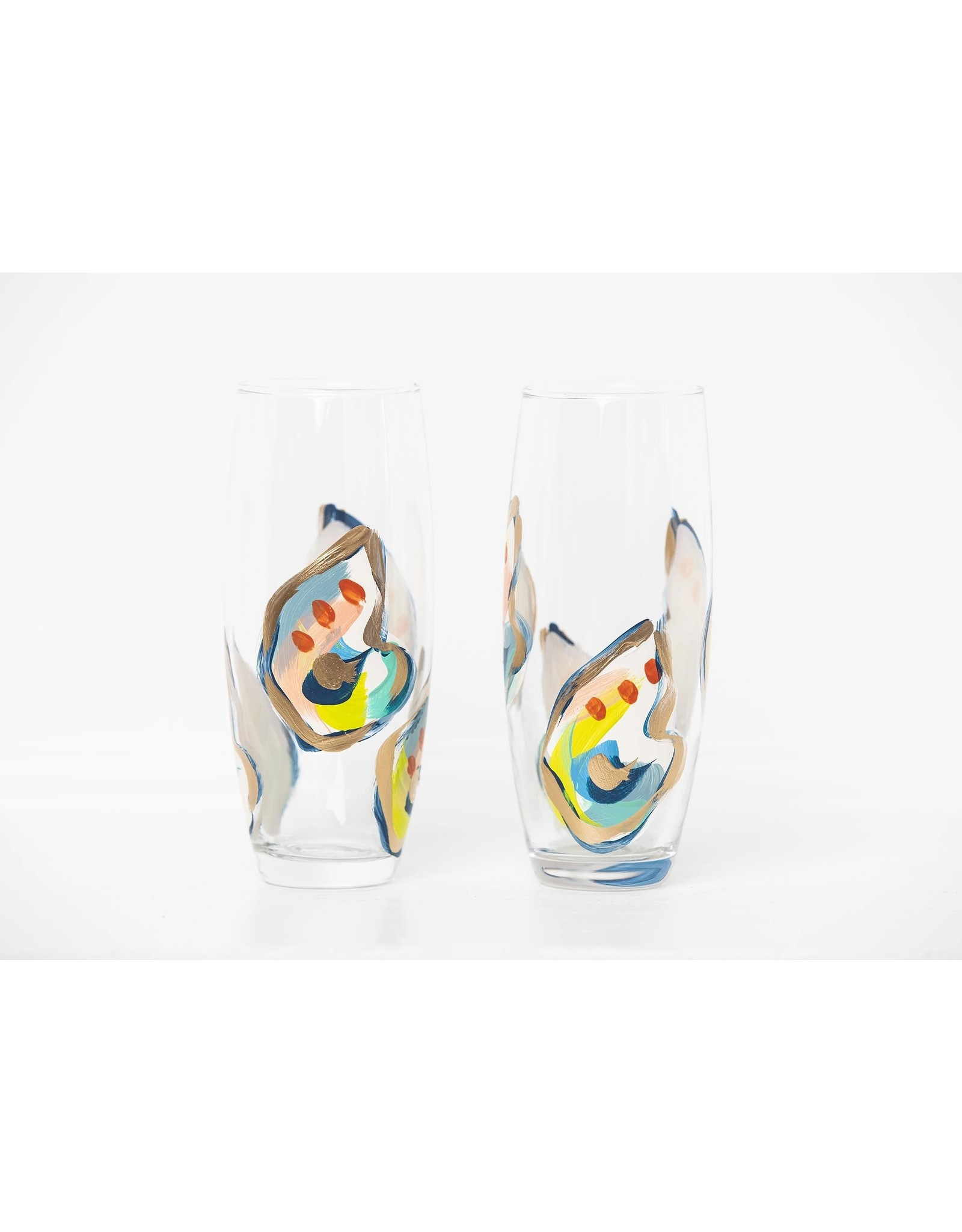 S. Bynum Art Jazzy Oyster Mini Shell Stemless Flute