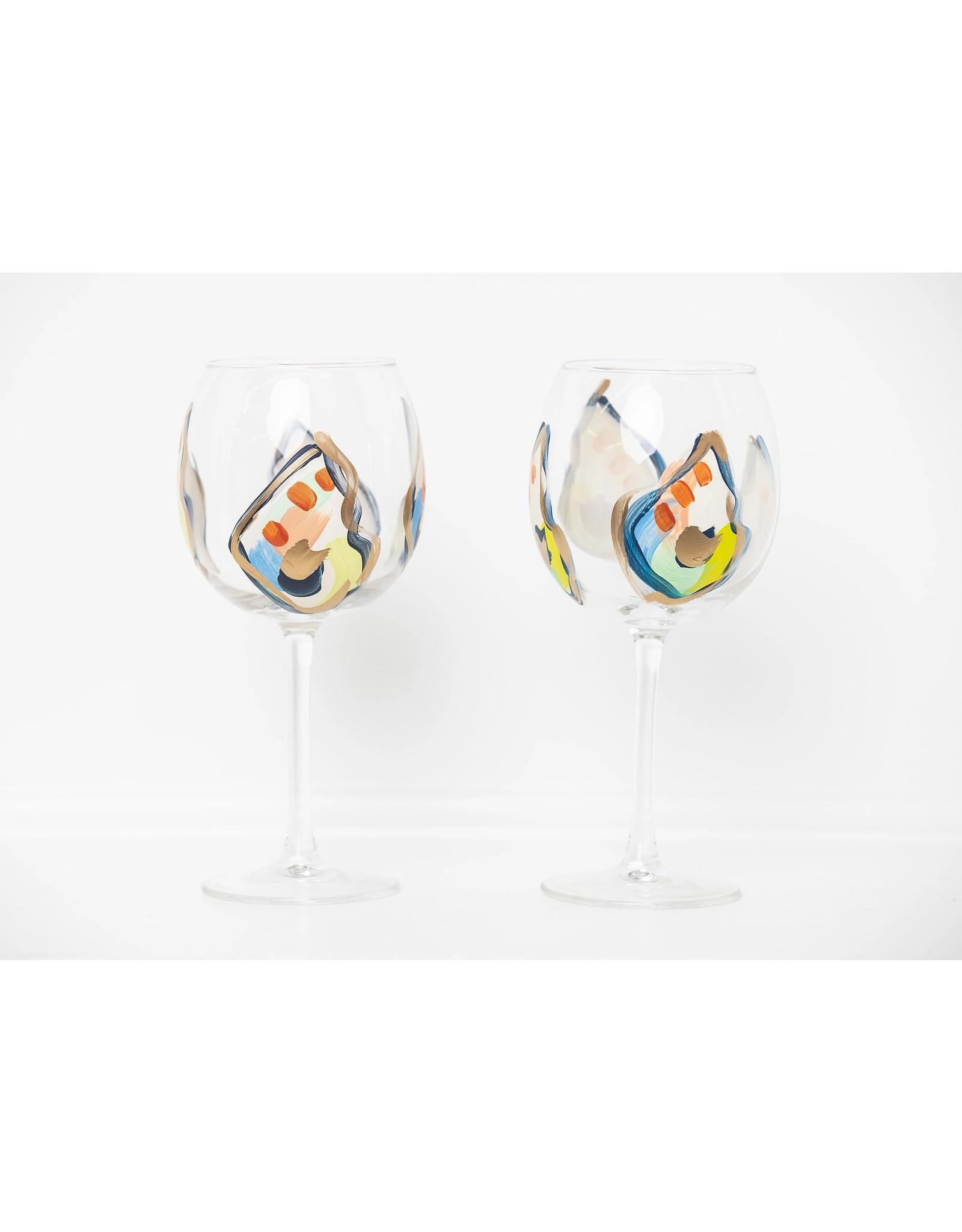 S. Bynum Art Jazzy Oyster Mini Shell Stemmed Wine