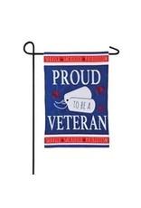 Evergreen Enterprises Proud Veteran Garden Applique Flag