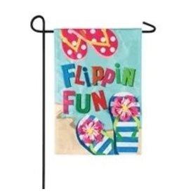 Evergreen Enterprises Flippin Fun Garden Linen Flag