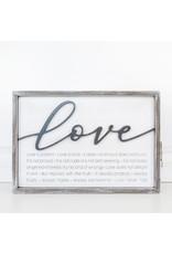 Adams & Co. LOVE IS 11x16x1.5 rvs wd frmd sn