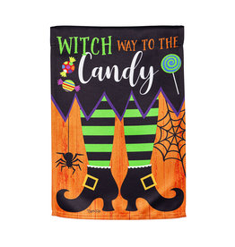 Evergreen Enterprises Witch Way Garden Suede Flag