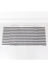 """Adams & Co. 15"""" X 65"""" Table Runner (Stripes), White/Black"""