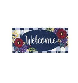 Evergreen Enterprises Fall Floral Check Sassafras Switch Mat