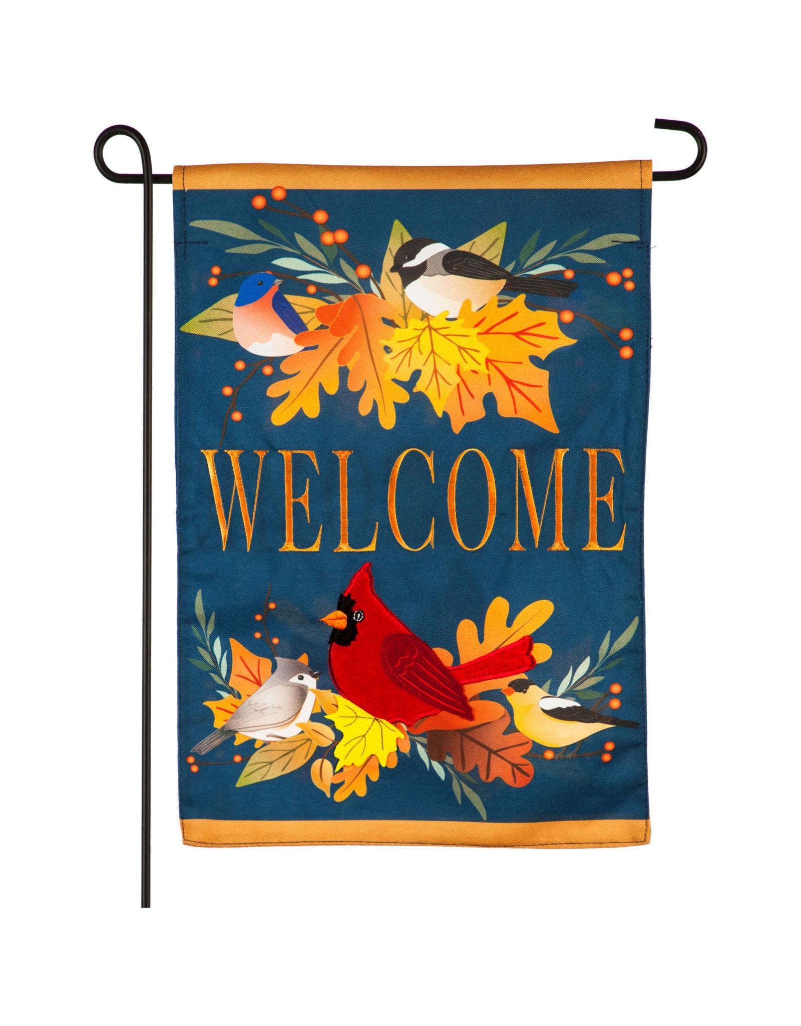 Evergreen Enterprises Autumn Songbirds Garden Linen Flag