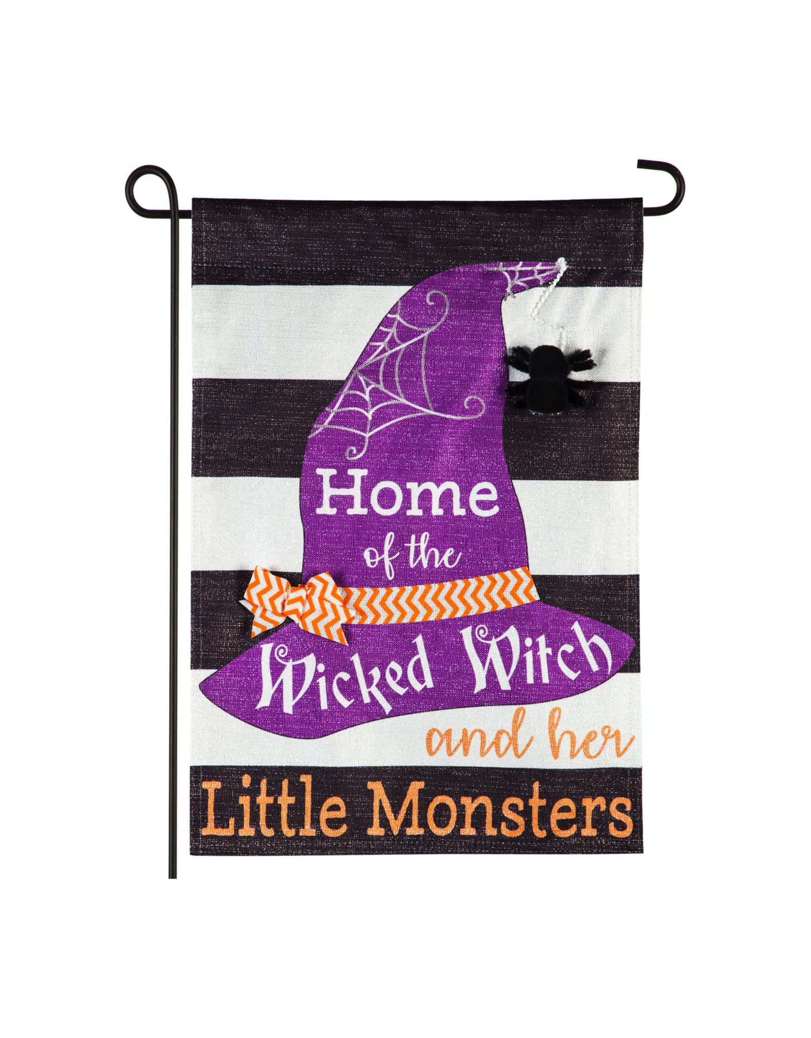 Evergreen Enterprises Wicked Witch and her Little Monsters Garden Linen Flag