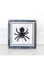 Adams & Co. Wood Framed Sign SPIDER 7x7x1.5