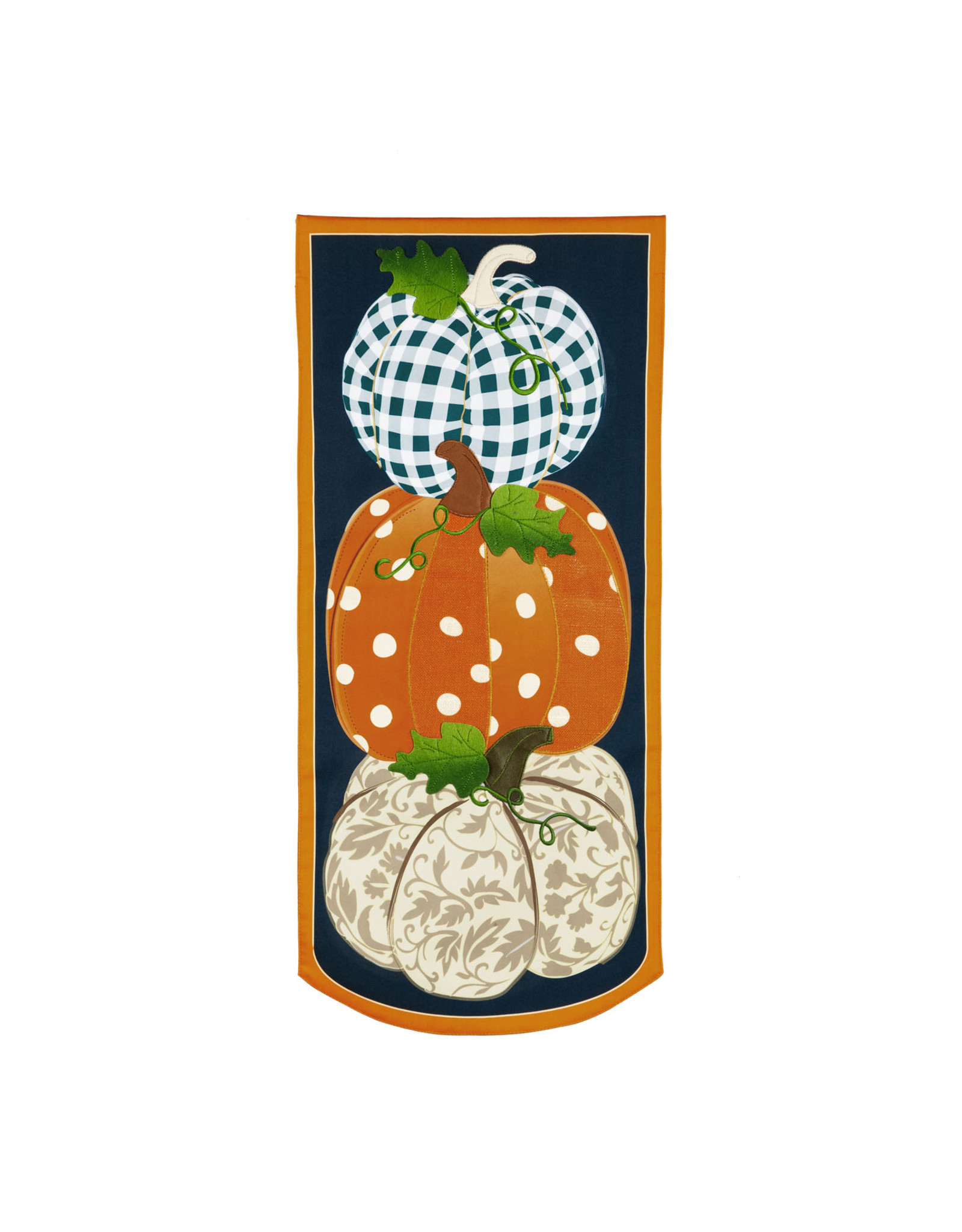 Evergreen Enterprises Patterned Pumpkins Everlasting Impressions Textile Décor