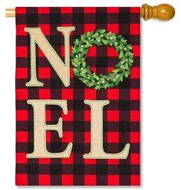 Evergreen Enterprises NOEL Wreath House Linen Flag