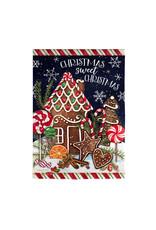 Evergreen Enterprises Sweet Christmas Garden Suede Flag