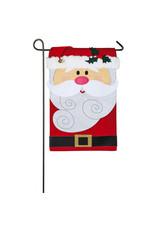 Evergreen Enterprises Santa Claus Garden Applique Flag
