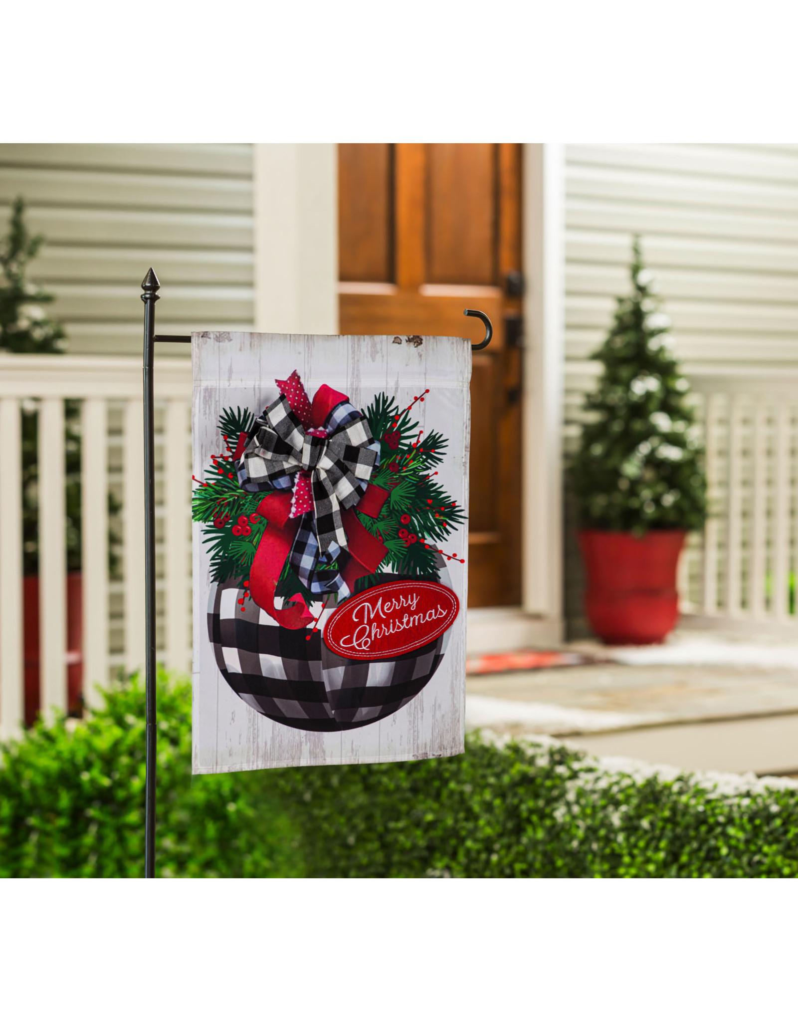 Evergreen Enterprises Buffalo Check Ornament Garden Applique Flag