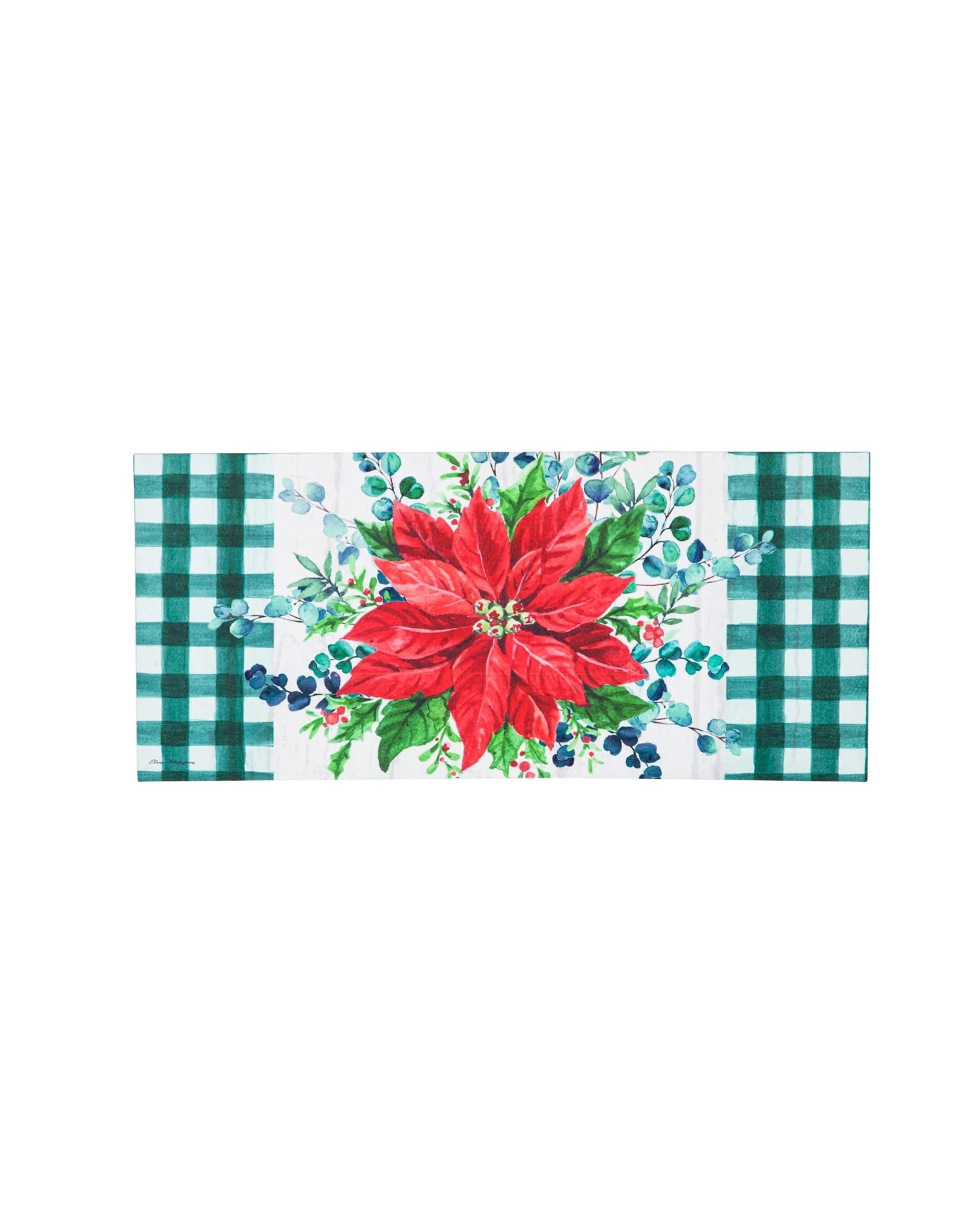 Evergreen Enterprises Merry and Bright Poinsettia Sassafras Switch Mat