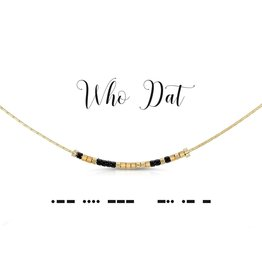Dot And Dash Designs Who Dat? Necklace
