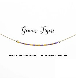 Dot And Dash Designs Geaux Tigers Necklace