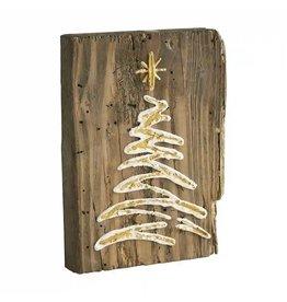 Mudpie Christmas Tree Gold Plaque