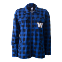 Ladies Plaid Fleece Jacket