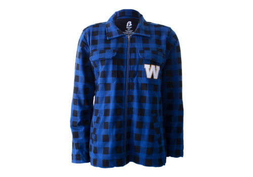 Bulletin Ladies Plaid Fleece Jacket