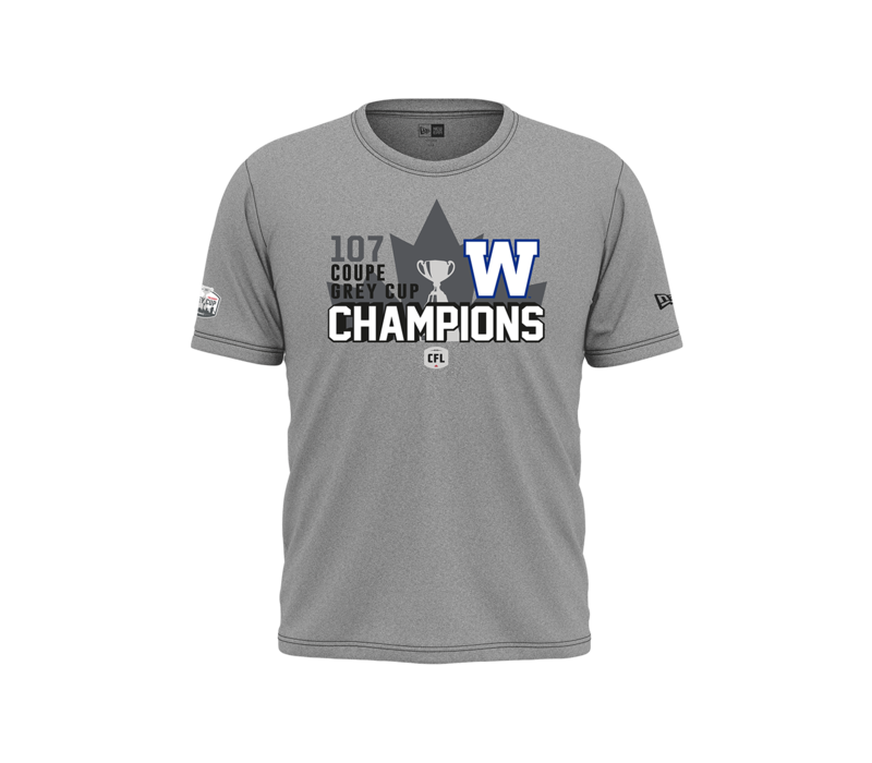 107th Grey Cup Blue Bombers Champions Tee