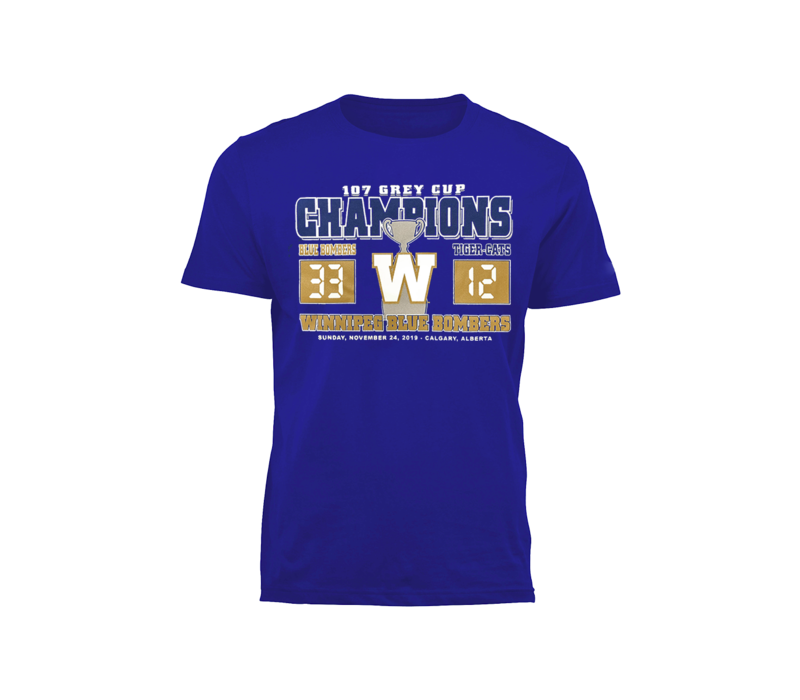 Royal Grey Cup Score Tee