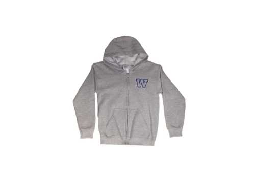 ESA Youth Grey Primary W FZ Hoody