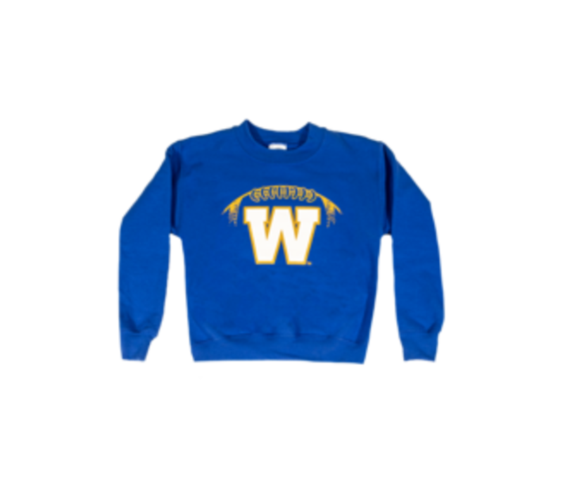 Youth Stylized Football Crewneck