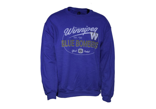 Bulletin Winnipeg Blue Bombers Crewneck