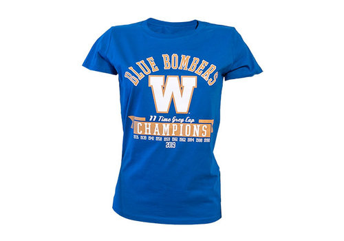 Bulletin Women's 11 Time Grey Cup Champs Tee