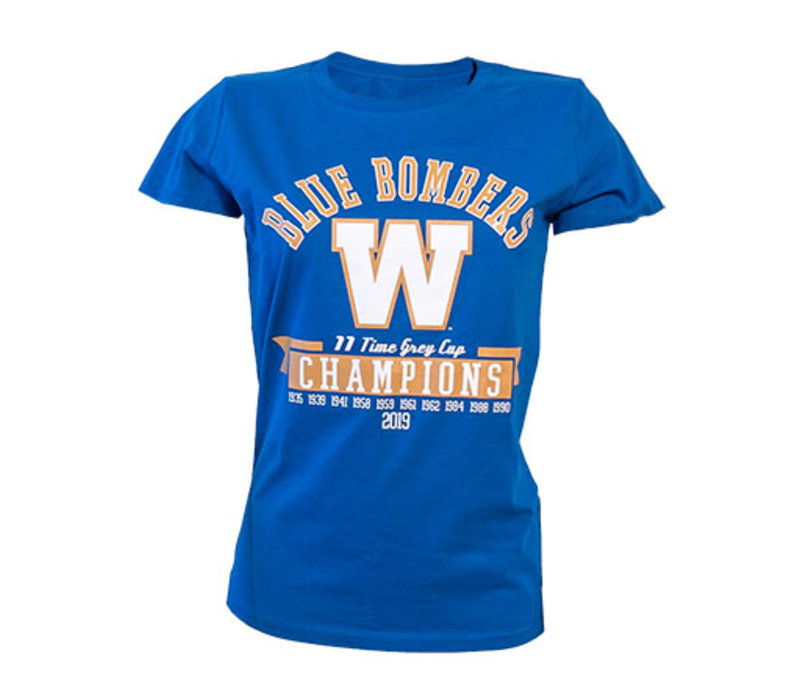 Women's 11 Time Grey Cup Champs Tee