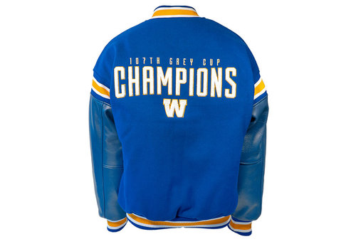 Saxon 107th Grey Cup Champions Melton Leather Jacket