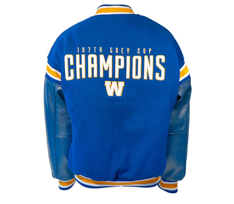 107th Grey Cup Champions Melton Leather Jacket