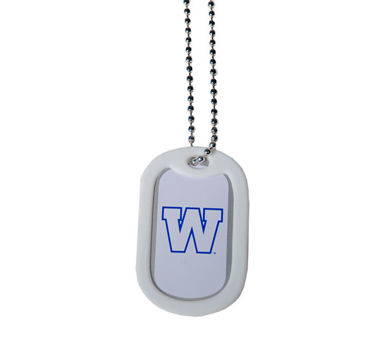 Metal #ForTheW Dog Tag