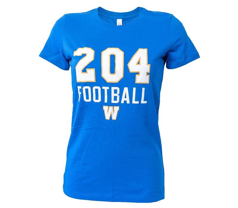 Women's - 204 W Football Tee