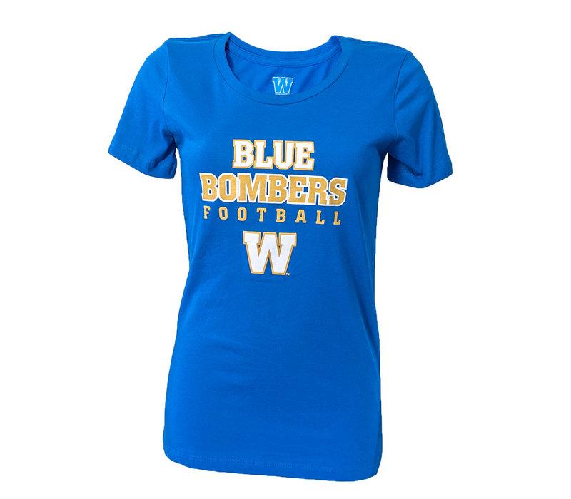 Women's - BB Football Tee