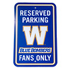 The Sports Vault Bombers Reserved Parking Sign