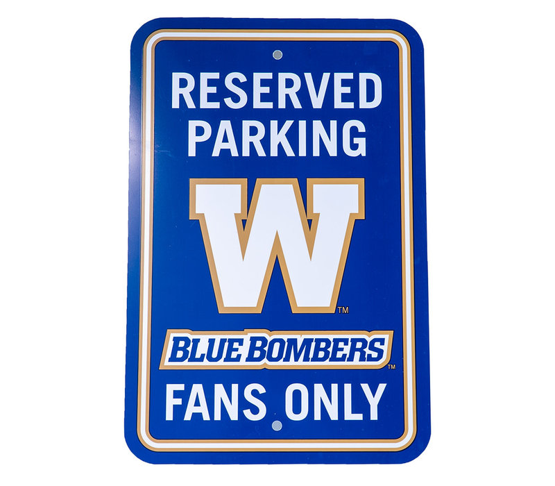 Bombers Reserved Parking Sign