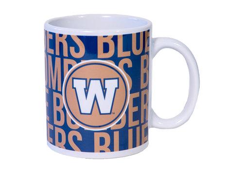 The Sports Vault 11 Oz Blue Bombers Team Mug