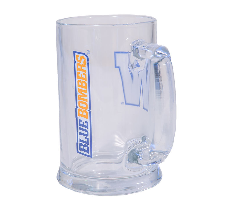 15oz Primary W Glass Mug