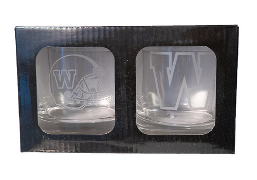 The Sports Vault 2 Piece Rocks Glass Set