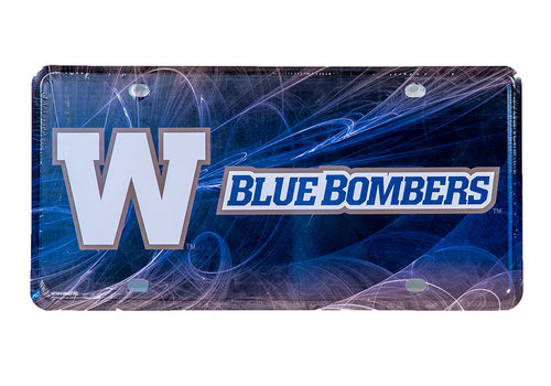 Hunter Blue Bombers Fan Auto Tag