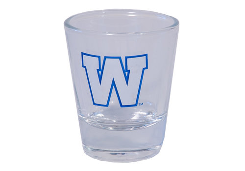 The Sports Vault 2oz Primary W Shot Glass