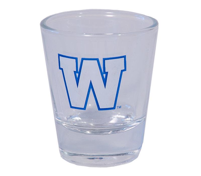 2oz Primary W Shot Glass